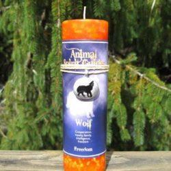 Animal Spirit Wolf Candle
