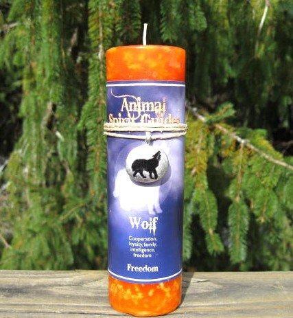 Animal Spirit Wolf Candle