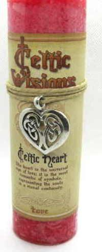 Scented Celtic Heart Candle with pewter Pendant