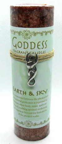 Scented Goddess Earth and Sky Candle with Pewter Pendant