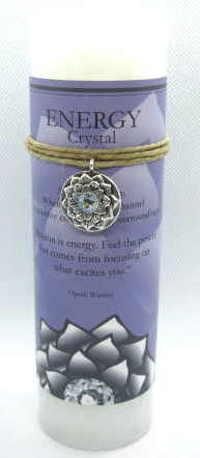 Scented Energy candle with pewter pendant
