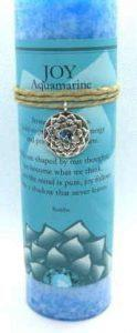 Scented joy candle with pewter pendant