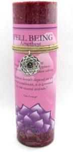 Scented Well Being Candle with pewter pendant