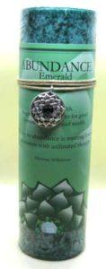scented abundance candle with pewter pendant