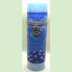 Lotus healing candle with pewter pendant