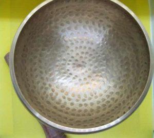 bottom of hammered singing bowl
