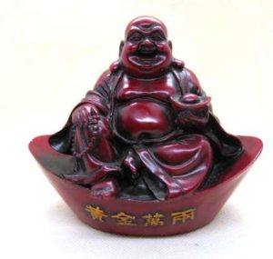 Red Resin Buddha in Ru Pot