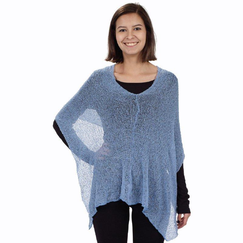 Blue 3 Way Shawl full front