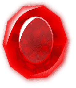 Faceted Garnet gemstone