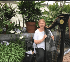Kathy Wallace and her Harp