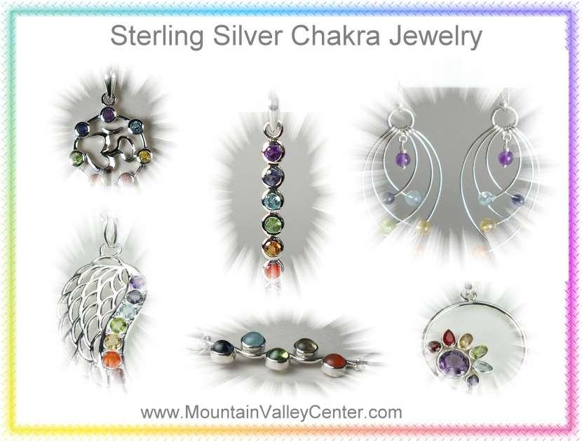Sterling Silver Chakra Gemstone Jewelry from Mountain Valley Center