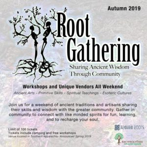 Root Gathering Flyer at Otto Labyrinth Park