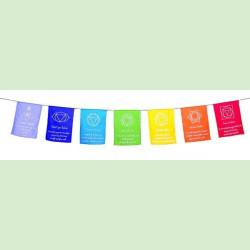 Cotton 7 Chakras Prayer Flags