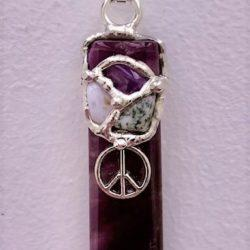 Inner Peace Gemstone Blade Amulet