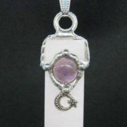Love Blade Amulet (Unconditional), Handmade gemstone blade pendant by Seeds of Light. Blade wands are approximately 1.75 inches long by ½ inch wide.