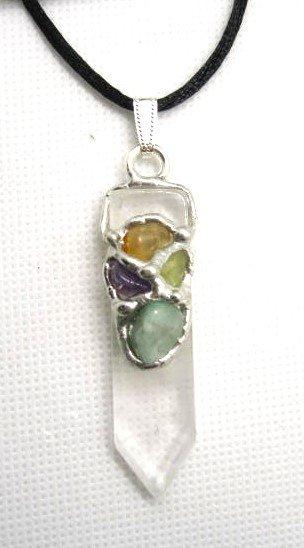 Prosperity Blade Amulet (Abundance), Handmade gemstone blade pendant by Seeds of Light. Blade amulet pendants are approximately 1.75 inches long by ½ inch wide.