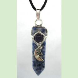 Psychic Blade Amulet (Intuitive), Handmade gemstone blade pendant by Seeds of Light. Blade amulet pendants are approximately 1.75 inches long by ½ inch wide.