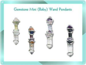 Gemstone Mini (Baby) Wand Pendants