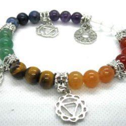 Chakra Gemstone Charm Bracelet