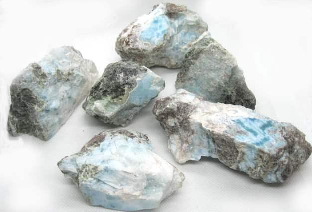 Larimar Gemstones in the Rough