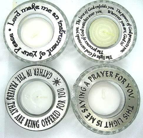 Pewter Tea Light Candles
