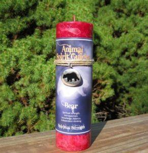 Animal Spirit Bear Candle