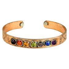 Copper Bracelet with Chakra Gemstones