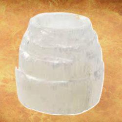 Selenite Iceberg Tower Candleholder