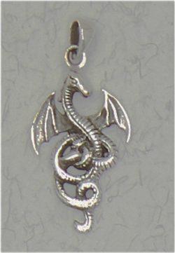 Celtic Dragon Sterling Silver Pendant