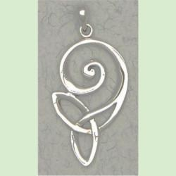 Trinity spiral knot pendant - sterling silver