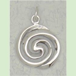 Celtic Spiral sterling silver pendant