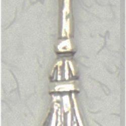 Witches Broom sterling silver pendant