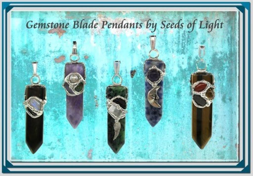 gemstone Blade pendants at Mounatin Valley Ceneter