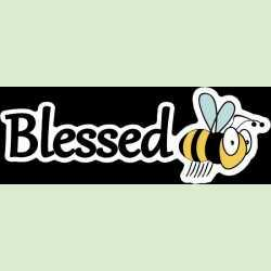 blessed bee mini bumper sticker
