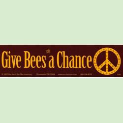 give bees a chance bumper sticker