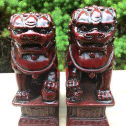 Red Resin Fu Temple Dogs