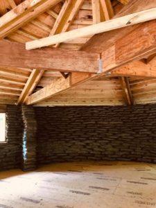 inside the earth bag pavilion